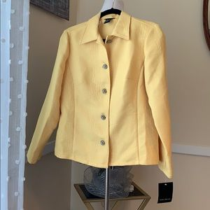 NWT Tara Ryan Medium Yellow Blazer